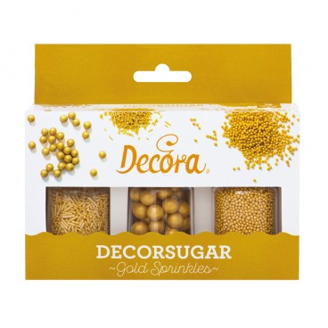 Set miniperlas oro Decora