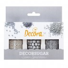 Set miniperlas plata Decora
