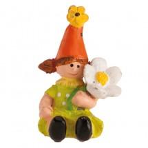 Figura roscón duende niña flor
