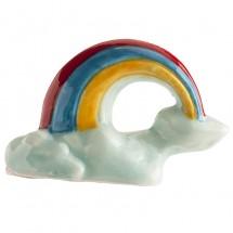 Figura roscón arcoíris blanco