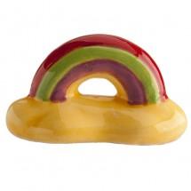 Figura roscón arcoíris amarillo