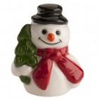 Figura roscón muñeco de nieve árbol