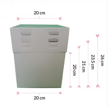 Caja 20cm, 4 alturas