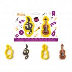 Set de cortadores clave de sol - violín