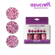 Sprinkles Confetti - corazones, estrellas rosas Azucren