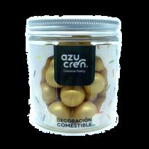 Bolas oro metalizado azúcar, chocolate y cereales