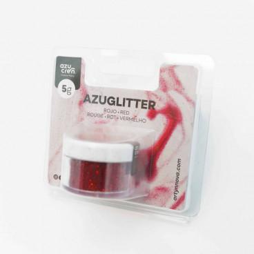 Purpurina Azuglitter rojo No tóxica