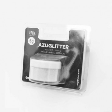Purpurina Azuglitter blanco No tóxica