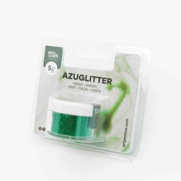 Purpurina Azuglitter verde No tóxica