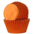 Cápsulas cupcakes naranja metalizado