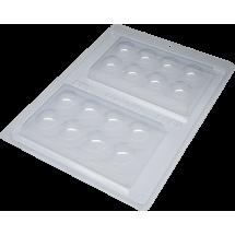 Molde tableta de chocolate bolitas 3D BWB
