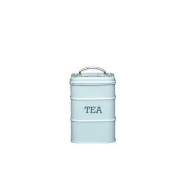 Lata para té azul