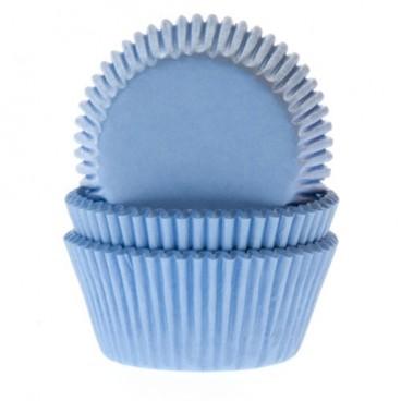 60 Cápsulas mini cupcakes azul bebé. HoM.