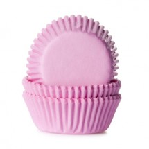 60 Cápsulas mini cupcakes rosa bebé. HoM.