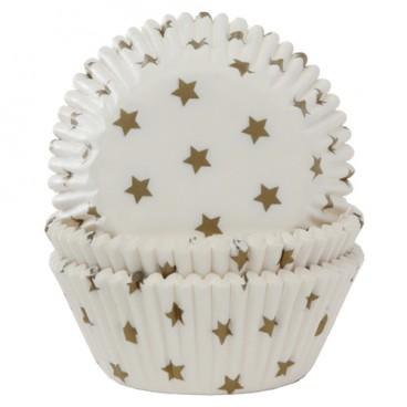 Cápsulas para cupcakes estrellas oro