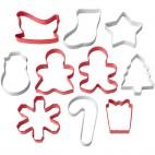 Set de 10 cortadores Navidad