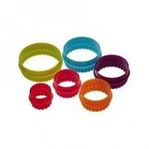 colourworks set de 6 cortadores circulos