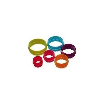 Colourworks Set de 6 cortadores círculos