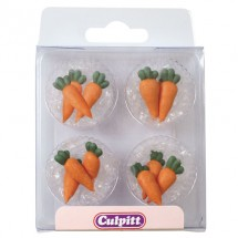Decoraciones de azúcar zanahorias