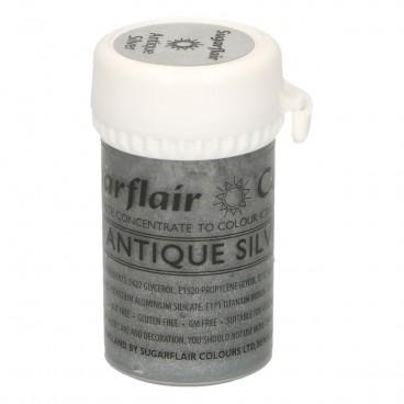 Sugarflair. Colorante en pasta Satin Antique Silver
