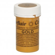 Sugarflair. Colorante en pasta Satin Gold