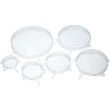 Set de 6 tapas de silicona elásticas