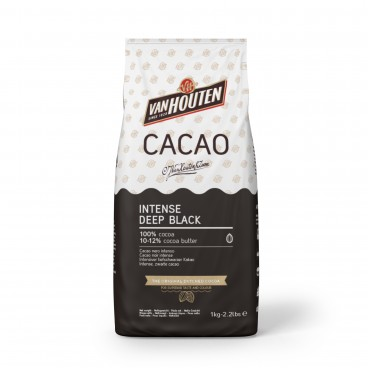 Cacao en polvo negro profundo intenso